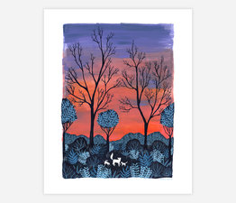 Foxes at Sunrise