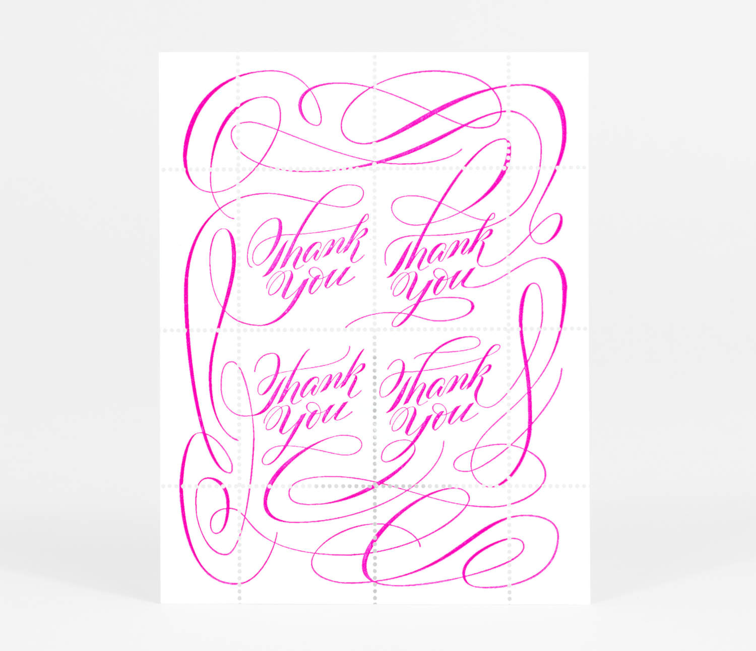 the portland stamp company thank you pink at