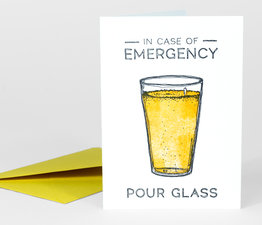 In Case of Emergency, Pour Glass