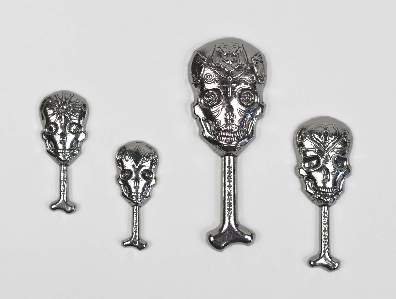 roosfoos calavera skull measuring spoons