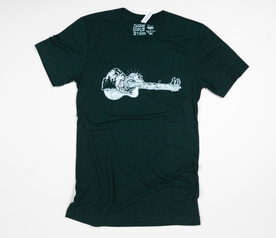 slowloris-guitario-dark-green-shirt