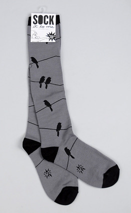 Birds on Wire (Gray)