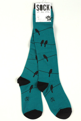 Birds on Wire (Teal)