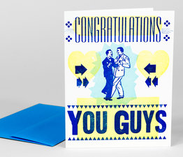 Congratulations You Guys (Blue)