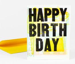 Happy Birthday Abstract