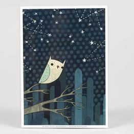 Starry Night Owl No. 1