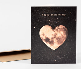 Happy Anniversary Heart Moon
