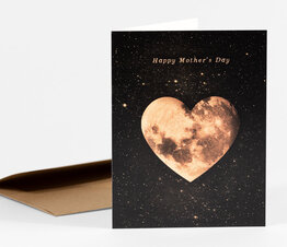 Happy Mother's Day Heart Moon