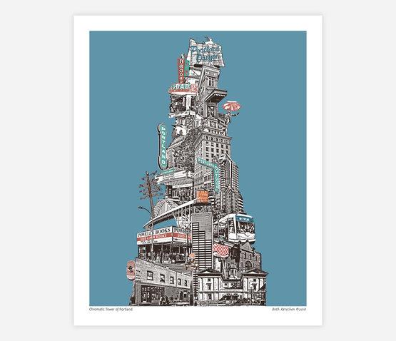 urban-retrospectives-chromatic-tower-of-portland-print