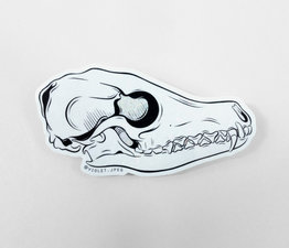 Glitter Fox Skull
