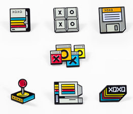 XOXO Pin Set